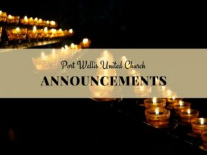 Announcements November 12-19, 2017