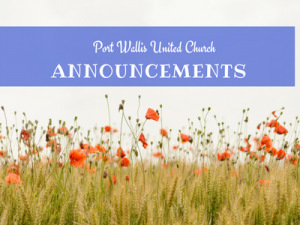 Summer Announcements for Port Wallis United Church
