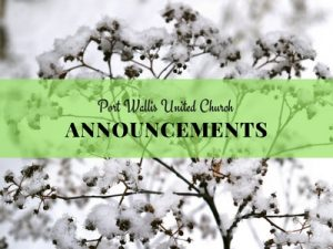 Announcements for February 25th to March 4th, 2018