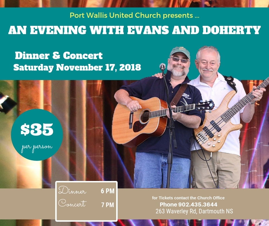 evans and doherty in nova scotia events