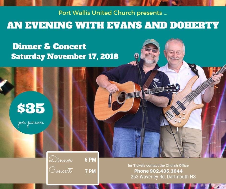 evans and doherty in nova scotia events