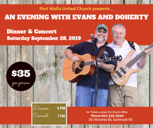 evans and doherty concert in halifax ns